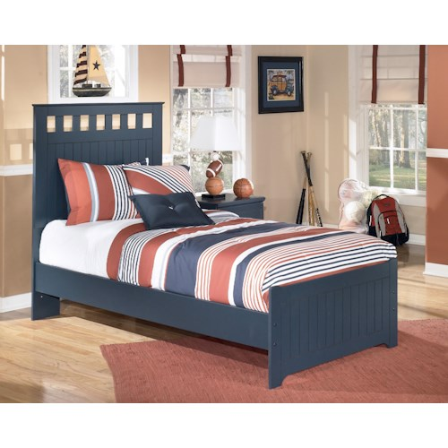 Signature Design by Ashley Leo Twin Panel Headboard and Footboard Bed