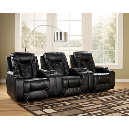 Signature Design by Ashley Matinee DuraBlend® - Eclipse Contemporary 3 Piece Theater Seating Group