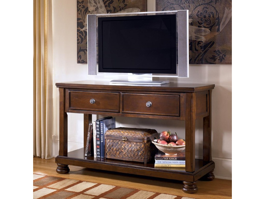 Shown as Media Console with TV