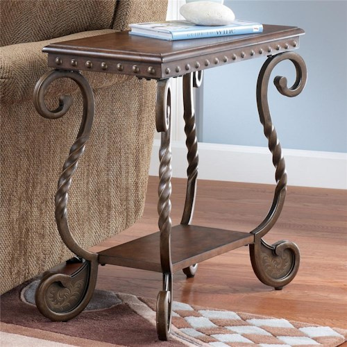 Signature Design by Ashley Rafferty  Chairside End Table with Shelf