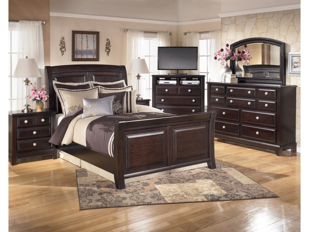 Shown with Bed, TV Chest, Dresser & Mirror