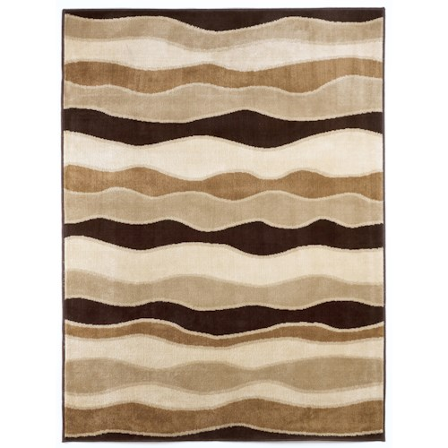 Signature Design by Ashley Contemporary Area Rugs Frequency - Toffee Area Rug