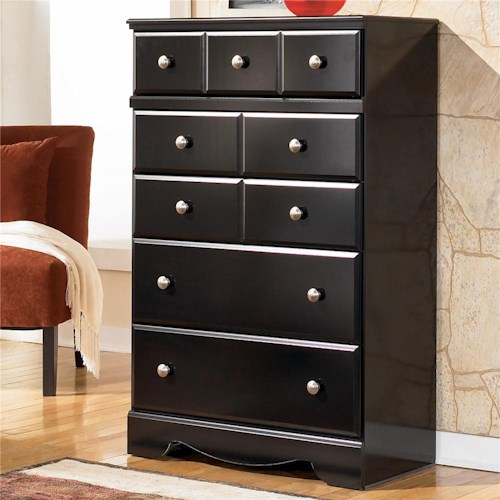 Signature Design by Ashley Shay Contemporary 5 Drawer Chest
