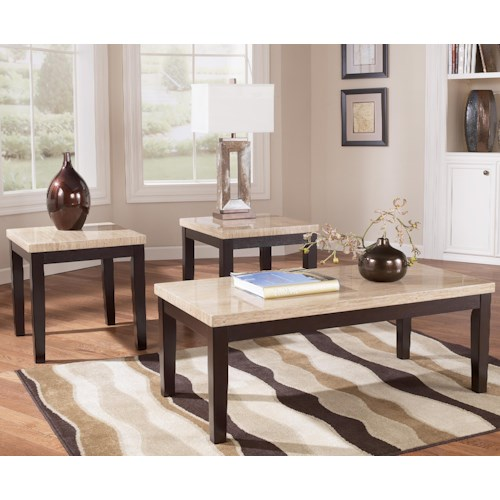Signature Design by Ashley Wilder Contemporary 3-in-1 Pack Occasional Table Set