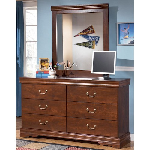 Signature Design by Ashley Wilmington Six Drawer Dresser and Mirror
