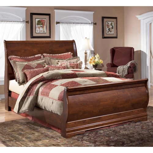 Signature Design by Ashley Wilmington Queen Louis Philippe Sleigh Bed