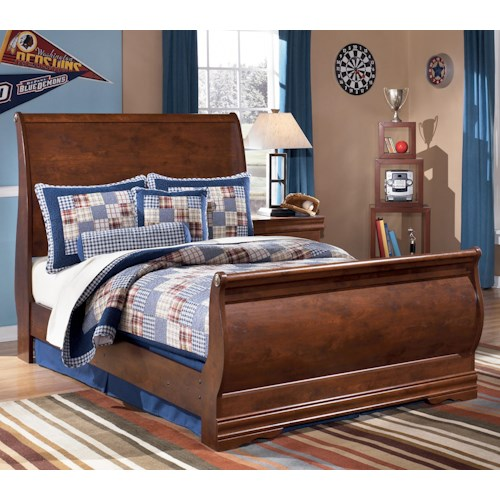 Signature Design by Ashley Wilmington Full Louis Philippe Sleigh Bed