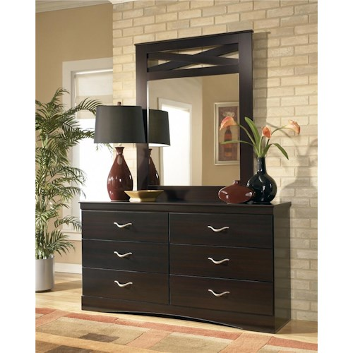Signature Design by Ashley X-cess Dresser and Mirror Combo