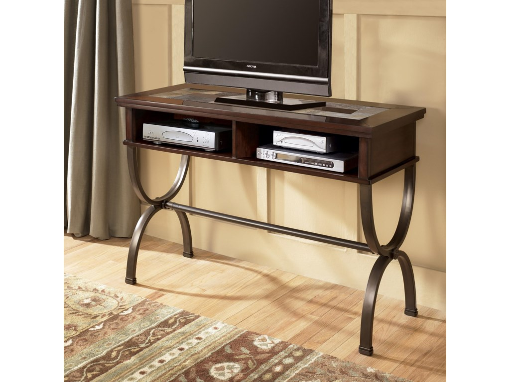 Table Being Used as Media Console