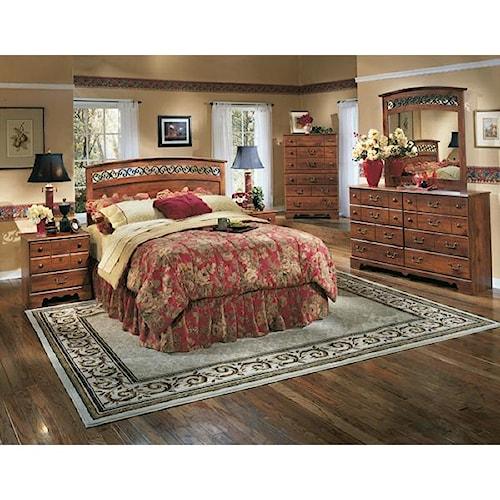 Signature Design by Ashley Pine Ridge 5 Piece Queen Bedroom Set
