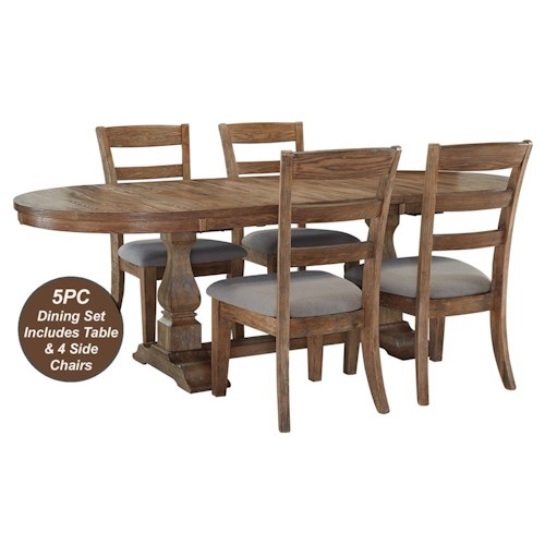 Signature Design by Ashley Davenport 5-Piece Dining Table & Chair Set