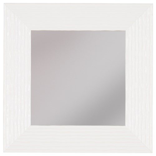 Signature Design by Ashley Accent Mirrors Odelyn White Wall Mirror