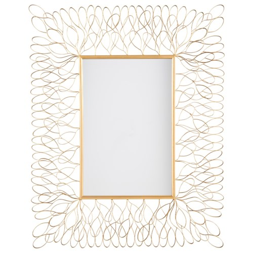 Signature Design by Ashley Furniture Accent Mirrors Ogdon Antique Gold Finish Accent Mirror