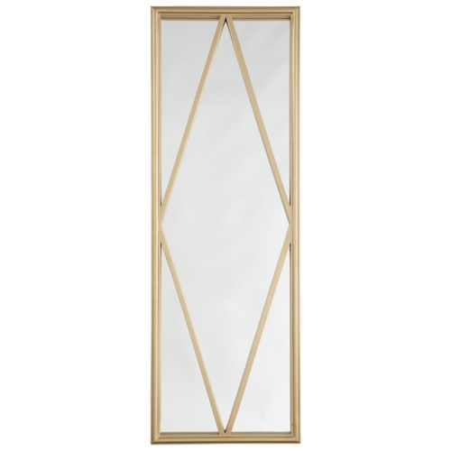 Signature Design by Ashley Accent Mirrors Offa Gold Finish Accent Mirror