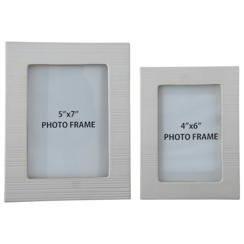 Signature Design by Ashley Accents Baback White Photo Frames (Set of 2)