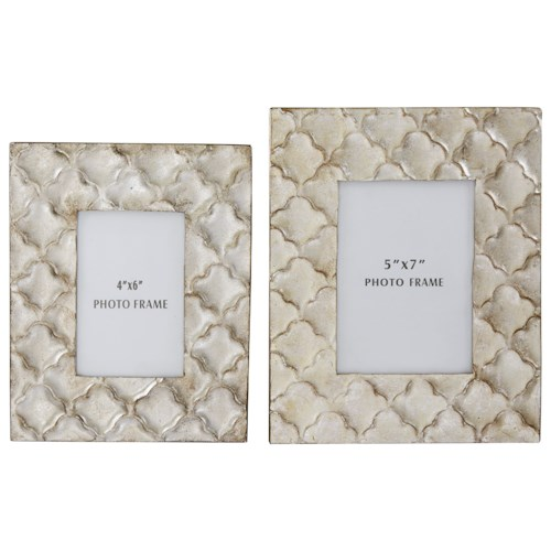 Signature Design by Ashley Furniture Accents Kaeden Silver Leaf Photo Frame (Set of 2)