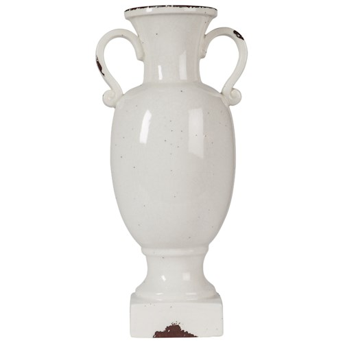 Signature Design by Ashley Furniture Accents Diedra Antique White Urn