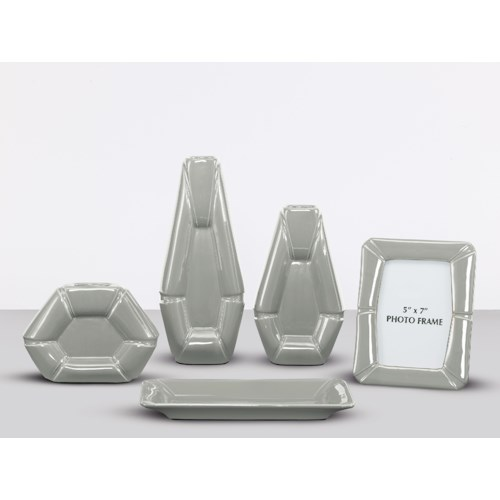 Signature Design by Ashley Furniture Accents Table Top Accessories - Gray