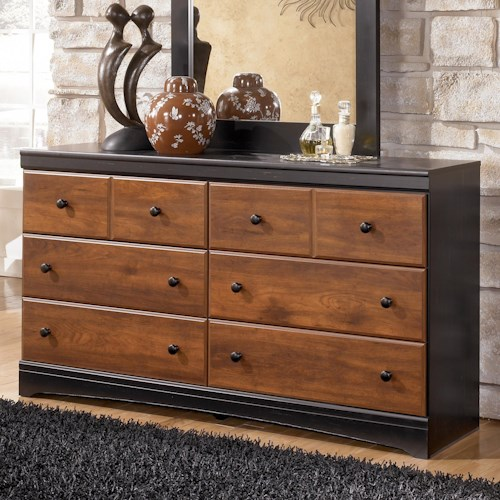 Signature Design by Ashley Furniture Aimwell Two-Tone Finish Dresser with 6 Drawers