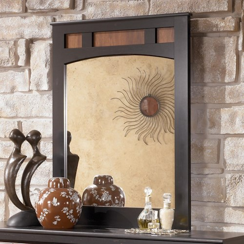 Signature Design by Ashley Furniture Aimwell Two-Tone Finish Bedroom Mirror