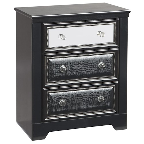 Signature Design by Ashley Alamadyre Contemporary Three Drawer Night Stand