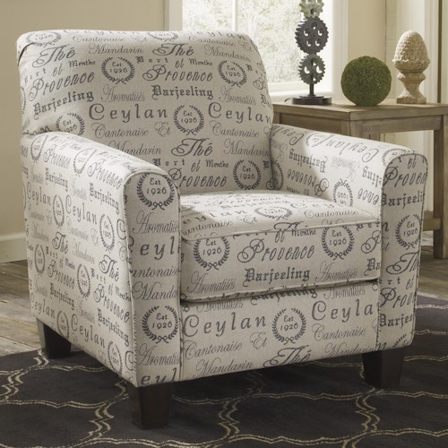 Signature Design by Ashley Furniture Alenya - Quartz Track Arm Accent Chair