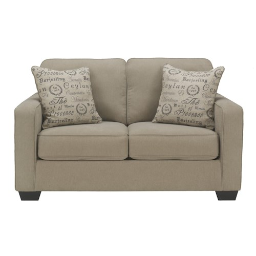 Signature Design by Ashley Furniture Alenya - Quartz Contemporary Loveseat w/ Track Arms