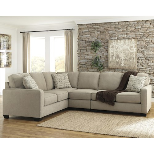 Signature Design by Ashley Alenya - Quartz 3-Piece Sectional with Right Loveseat