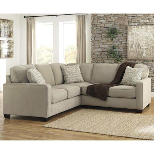 Signature Design by Ashley Furniture Alenya - Quartz 2-Piece Sectional with Right Loveseat