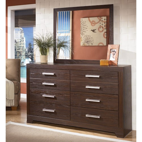 Signature Design by Ashley Aleydis 6-Drawer Dresser & Mirror