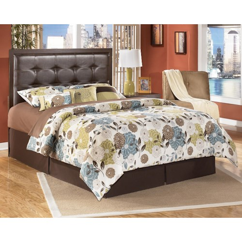 Signature Design by Ashley Furniture Aleydis Queen/Full Faux Leather Upholstered Panel Headboard