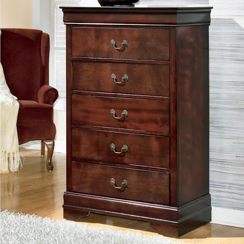 Signature Design by Ashley Furniture Alisdair Traditional Chest with 5 Drawers