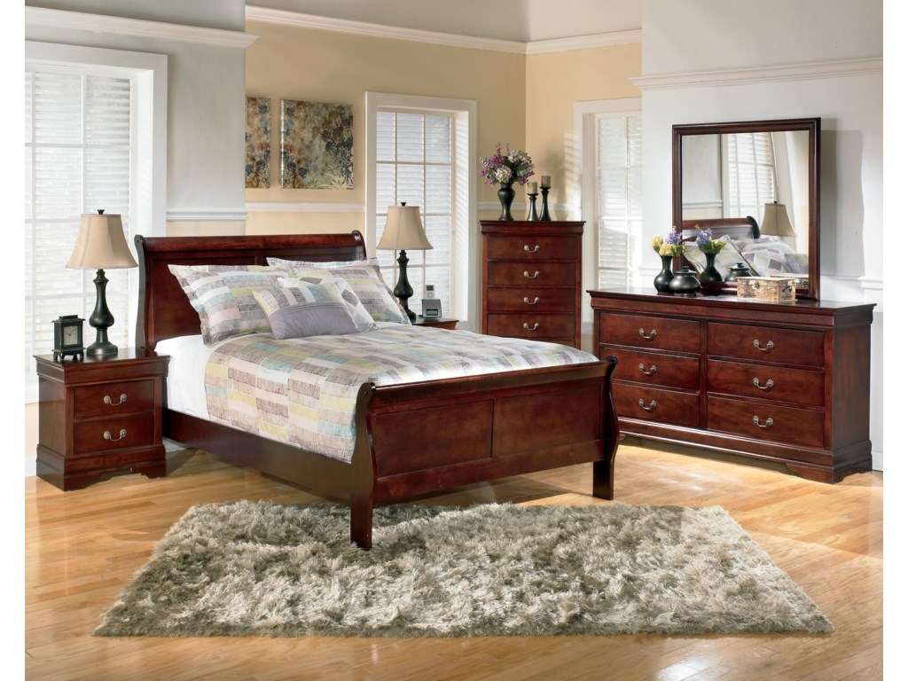 Shown with Sleigh Bed, Chest, Dresser, and Mirror