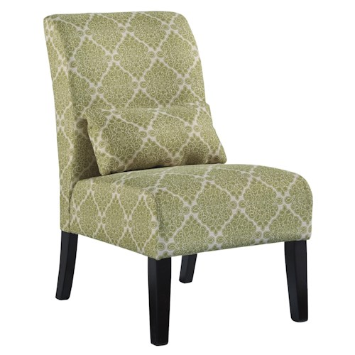 Signature Design by Ashley Annora - Kelly Transitional Armless Accent Chair with Pillow
