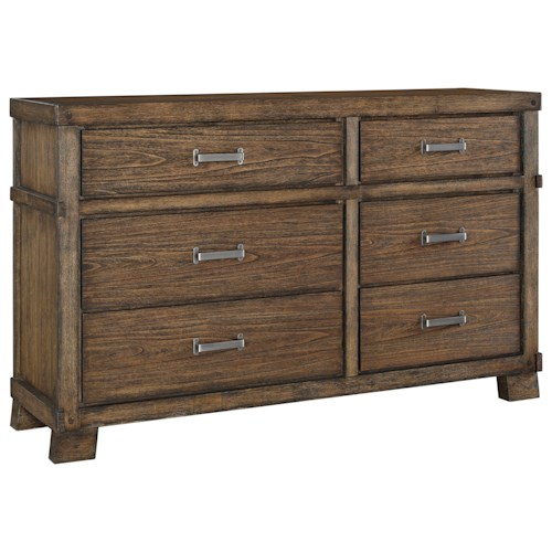 Signature Design by Ashley Leystone Contemporary Dresser with 6 Drawers