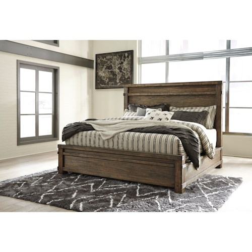 Signature Design by Ashley Leystone Contemporary California King Bed with Low-Profile Footboard