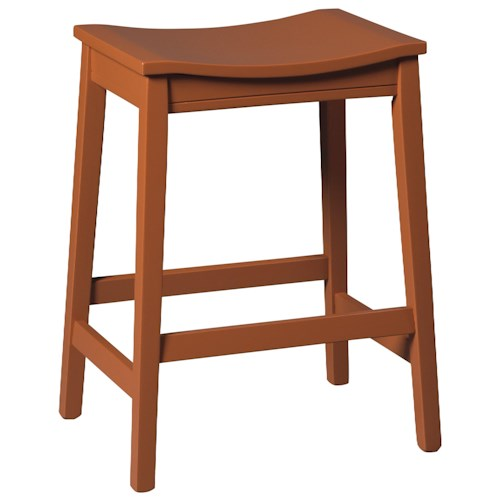 Signature Design by Ashley Bantilly Counter Height Backless Wood Saddle Seat Stool