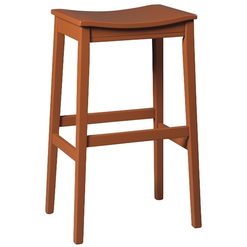 Signature Design by Ashley Bantilly Bar Height Backless Wood Saddle Seat Tall Stool