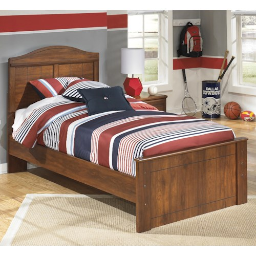 Signature Design by Ashley Barchan Twin Panel Bed with Arched Headboard