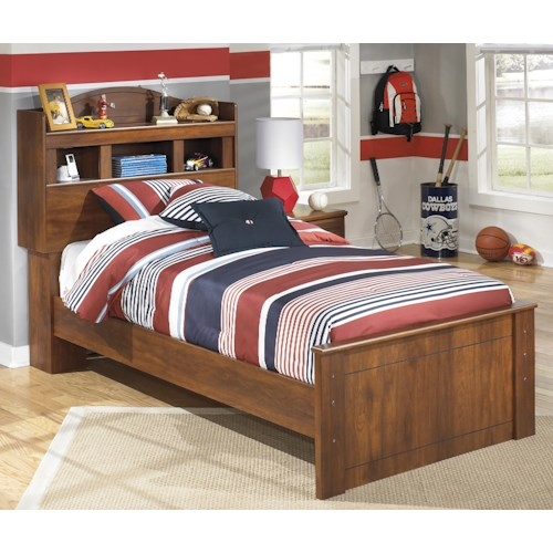Signature Design by Ashley Barchan Twin Bookcase Bed with 4 Shelves