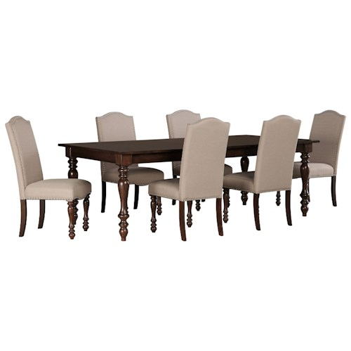 Signature Design by Ashley Baxenburg 7-Piece Dining Room Extension Table Set