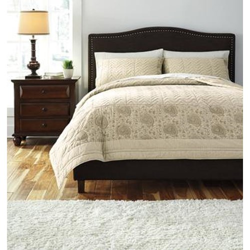 Signature Design by Ashley Bedding Sets Queen Paisley Natural Comforter Set