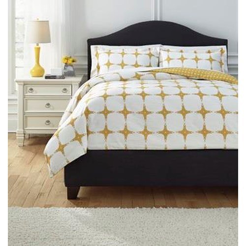 Signature Design by Ashley Bedding Sets Queen Cyrun Yellow Duvet Set