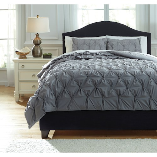Signature Design by Ashley Bedding Sets Queen Rimy Gray Comforter Set