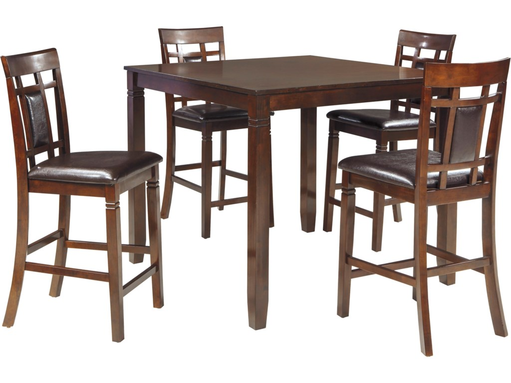 Ashley dining room furniture - Signature Design By Ashley Bennox Contemporary 5 Piece Dining Room Counter Table Set Del Sol Furniture Pub Table And Stool Sets