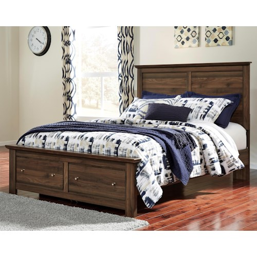 Signature Design by Ashley Burminson Queen Storage Bed with 2 Footboard Drawers