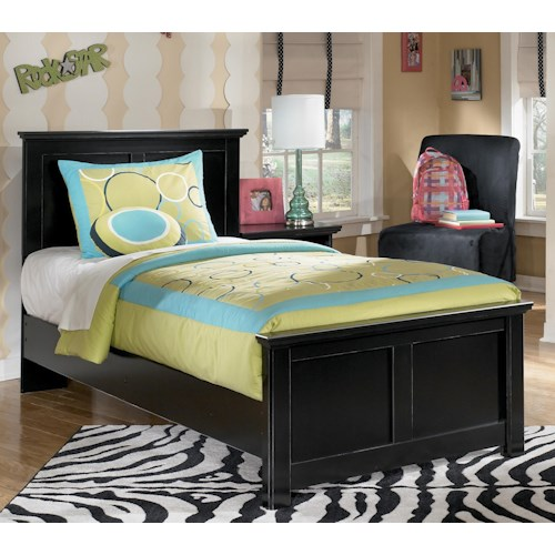 Signature Design by Ashley Maribel Twin Panel Bed with Simple Moulding