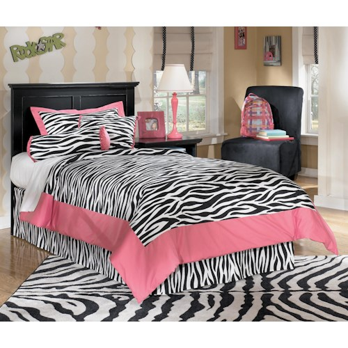 Signature Design by Ashley Maribel Twin Casual Panel Headboard with Moulding