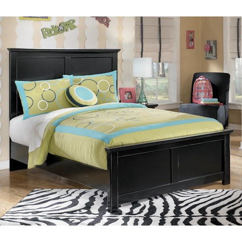 Signature Design by Ashley Maribel Full Panel Bed with Simple Moulding