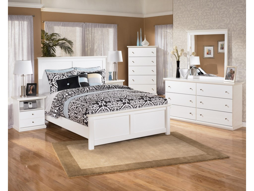 Shown with Nightstand, Panel Bed, Chest, & Mirror